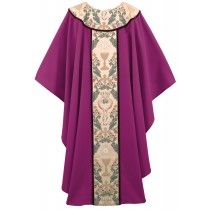 Tapestry of Life Clergy Chasuble Vestment Purple