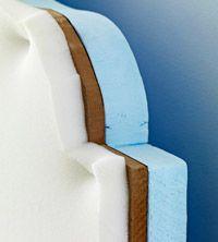 Upholstered headboard tutorial.