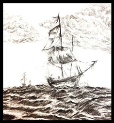 Charcoal Sailing Ships, Charcoal, Frames, Boat, Dark, Dinghy, Frame, Boats, Sailboat