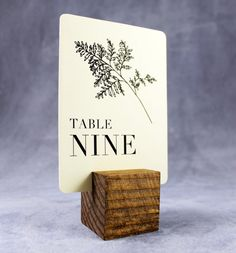 Wedding Table Numbers with Stands by EventDesignShop on Etsy