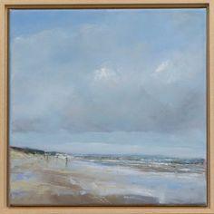 Noordzeestrand  –  olie op canvas  – 40 x 40 cm