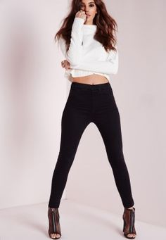 Sinner High Waisted Jeggings Black