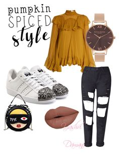 My kind of a daytime outfit! ❤️ by yashvi-damani on Polyvore featuring polyvore, fashion, style, Chloé, adidas Originals, Olivia Burton and clothing