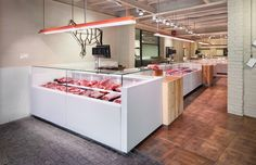 Sant Cugat (Barcelona) on Behance Butcher Store, Local Butcher Shop, White Gold Butchers, Protein Shop, Meat Box, Meat Store, Coffee Restaurants, Bread Shop, Gourmet