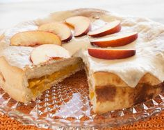 This recipe with peaches, is great! Almost say goodbye to summer, but ...