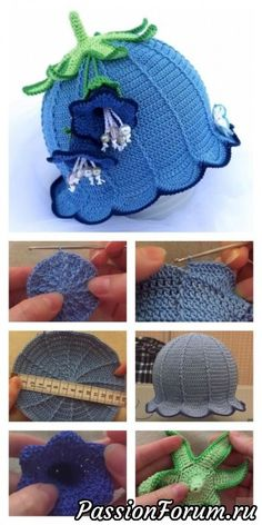 How to Crochet Bluebell Baby Hat These Crochet Baby Bluebell Hats are just adorable. I shared some links below with some free and paid patterns how to crochet them. Sombrero A Crochet, Crochet Baby Beanie, Crochet Kids Hats, Cute Crochet, Baby Blanket Crochet, Beautiful Crochet, Easy Crochet, Knitted Hats, Knit Crochet