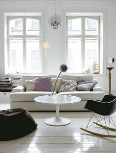 Great sofa, chair and windows!