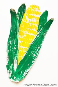 Corn Prints craft