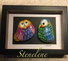 Owls #malpåsten#sten#stenelene#paintedstones#stones#rockpainting#rocks#owls#thisiswhatido#thisiswhatilove#foraspecielperson
