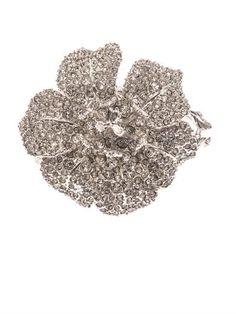 Crystal-embellished flower bracelet | Alexander McQueen | MATC...