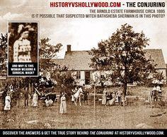 Η αληθινή ιστορία πίσω από την ταινία The Conjuring Το Δεκέμβριο του 1970 ο Roger και Carolyn Perron αγόρασαν ένα αγρόκτημα στο Harrisville, στο νησί Rhode. Μετά τα γεγονότα στην προηγούμενη κατοικία τους, η Carolyn αποφάσισε ότι δεν ήθελε να αναθρέψει τα παιδιά της εκεί..   Πηγή: http://metafysiki-pylh.blogspot.com/search/label/Ghosts%20-%20%CE%A3%CF%84%CE%BF%CE%B9%CF%87%CE%B5%CE%B9%CF%89%CE%BC%CE%AD%CE%BD%CE%B1%20%CE%9C%CE%AD%CF%81%CE%B7#ixzz3Ss4Lx8k6