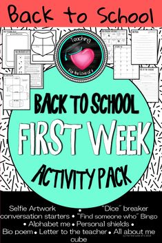 Back to school ice breakers and get to know you activities for the first week of school. Suitable for upper primary, elementary and high school kids. First Week Activities, Get To Know You Activities, Math Activities, Beginning Of The School Year, Back To School, High School, School Kids, Middle School, Chat Topics