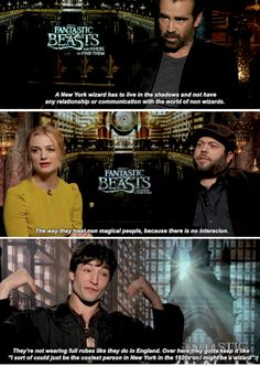 Difference between American and British wizard? - Fantastic Beasts cast