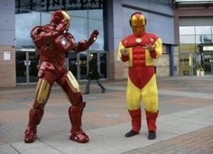 Ironman cosplay fail You've been out-cosplayed, son. Cosplay Fail, Bad Cosplay, Cosplay Costumes, Diy Costumes, Halloween Makeup For Kids, Kids Makeup, Creative Halloween Costumes, Halloween Decorations, Iron Man Cosplay