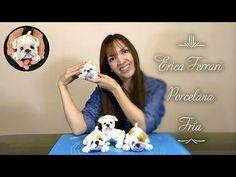 YouTube Cute Polymer Clay, Cute Clay, Polymer Clay Creations, Fondant Dog, Cold Porcelain Tutorial, Happy Birthday Dog, Felt Dogs, Clay Figurine, Ceramic Clay