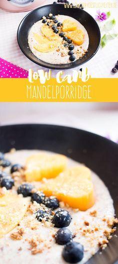 Low Carb Mandelporridge: vielseitig abwandelbar mit Nüssen & Aromen www.lowcarbkoestlichkeiten.de