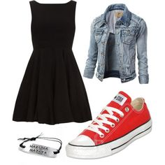 10 Stylish Spring Outfit Ideas for School - Spring is usually one of the most u. - outfits , 10 Stylish Spring Outfit Ideas for School - Spring is usually one of the most underrated seasons in the year because many people can't wait for summe. Dress With Converse, Converse Outfits, Komplette Outfits, Teen Fashion Outfits, 50 Fashion, Outfits For Teens, Trendy Fashion, Casual Outfits, Womens Fashion