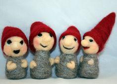 Four Felt Christmas Elves by susio on Etsy
