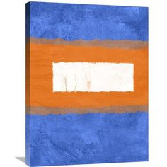 Naxart 'Blue and Orange Theme 1' Painting Print on Wrapped Canvas Size: