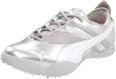 Featuring water resistant synthetic uppers and rubber smart quill clusters these womes sunny golf shoes by Puma also come with a 1 year waterproof guarantee on uppers