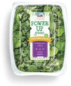Emballage vert Dole Power Up - Emballage vert Dole Power Up - Salad Packaging, Food Packaging Design, Brand Packaging, Pistolettes Recipe, Salad Bag, Vegetable Packaging, Baby Fruit, Barbie Food, Fresh Fruits And Vegetables