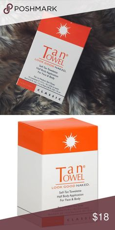 NEW Tan Towel Self Tan Towelette 10CT Face & Body NEW Tan Towel Self Tan Towelette 10CT Face & Body. Sunless tanning is as easy as ever with Self-Tan Half Body Application 10 Towelettes Classic for Fair to Medium Skin Tones by TanTowel. Easy-to-use, 7 in. by 9 in. (0.25 oz each) towelettes feature concentrated self-tan formula for an even, all-over application with no streaking. Within 2 to 4 hours, skin has a radiant, natural-looking glow. Skin tone gets deeper with continued applications…