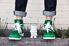 Green Feet | Palladium Boots