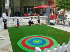 Hoebridge Golf Centre join Woking Shopping on The Lawn for a summer of mini golf and putting for children. #MiniGolf #Shopping #Woking #Surrey #Sports #Summer.