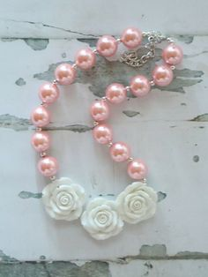 pink chunky bubblegum necklace