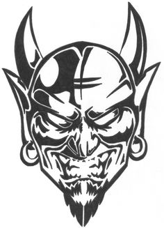 drawings of the devil | Displaying 19> Images For - Demon Skull Drawing...
