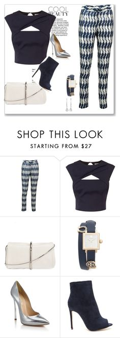 Navy Blue evening look by vanashrees on Polyvore featuring Coast, Sania Studio, Casadei, 3.1 Phillip Lim and Tory Burch