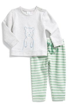 Free shipping and returns on Stem Baby Sweatshirt & Pants (Baby Boys) at Nordstrom.com. Keep your snuggle bug cozy warm with a two-piece set featuring a heathered, graphic sweatshirt and striped pants.