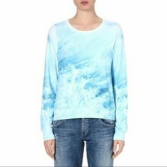 ISO Wildfox Sandbar Waves sweater sz M/L Looking for this beauty in a Medium or Large! Let me know if you've got one you're willing to sell! Wildfox Sweaters Crew & Scoop Necks
