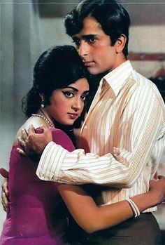 """retrobollywood: """"Shashi Kapoor & Hema Malini Abhinetri (1970)"""