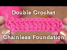 How to Crochet: Chainless Starting Double Crochet - YouTube