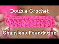 How to Crochet: Chainless Starting Double Crochet - YouTube