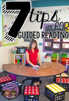 7 tips all teachers can use for their guided reading groups. Any level, any grade. Make guided reading simple with free printables and then invest in quality resources. Guided Reading Groups, Reading Lessons, Reading Activities, Reading Skills, Reading Centers, Reading Time, Guided Reading Organization, Classroom Organization, Autism Activities