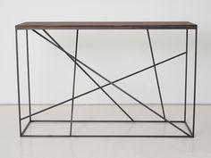 Consolle rettangolare in acciaio e legno Collezione Mikado by INTERNI EDITION   design Janine Vandebosch