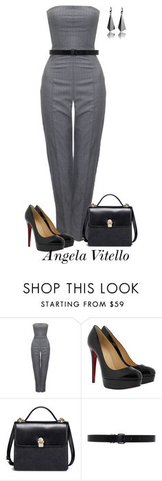 Untitled #869 by angela-vitello on Polyvore featuring Alexander McQueen, Christian Louboutin and Ann Demeulemeester