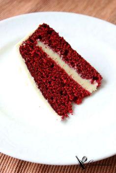 Red velvet cake w/ white chocolate ganache and ermine icing