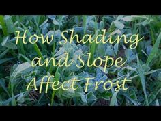 How shading and slope effect frost. This is good to know. I need this for my garden.