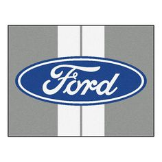 Ford Oval with Stripes All-Star Mat 33.75x42.5 - Gray