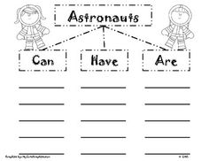 Exploring Space with an Astronaut Vocabulary Word Cut and
