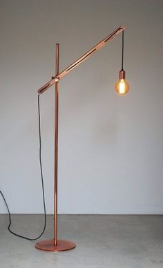 Floor lamps wood lamps and design on pinterest for Amalfi copper floor lamp