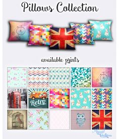 Pillows Collection at Victor Miguel via Sims 4 Updates