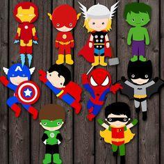 Resultado de imagen de organizar fiesta baby shower tematica superheroes