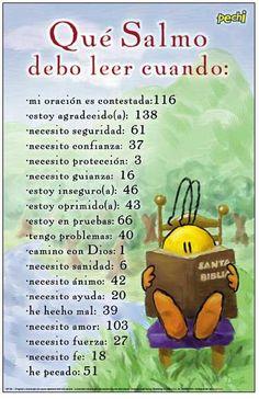 ¿Qué Salmo debo leer hoy? Agarra la Biblia y lee.                                                                                                                                                                                 Más