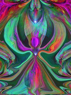 Reiki Angel Energy Art Heart Chakra  Abstract Angel Print