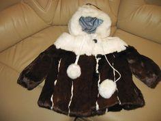 widgeon girls coats brown-white