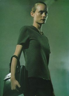 Amber Valletta for PRADA FW 1997, photographed by Glen Luchford.